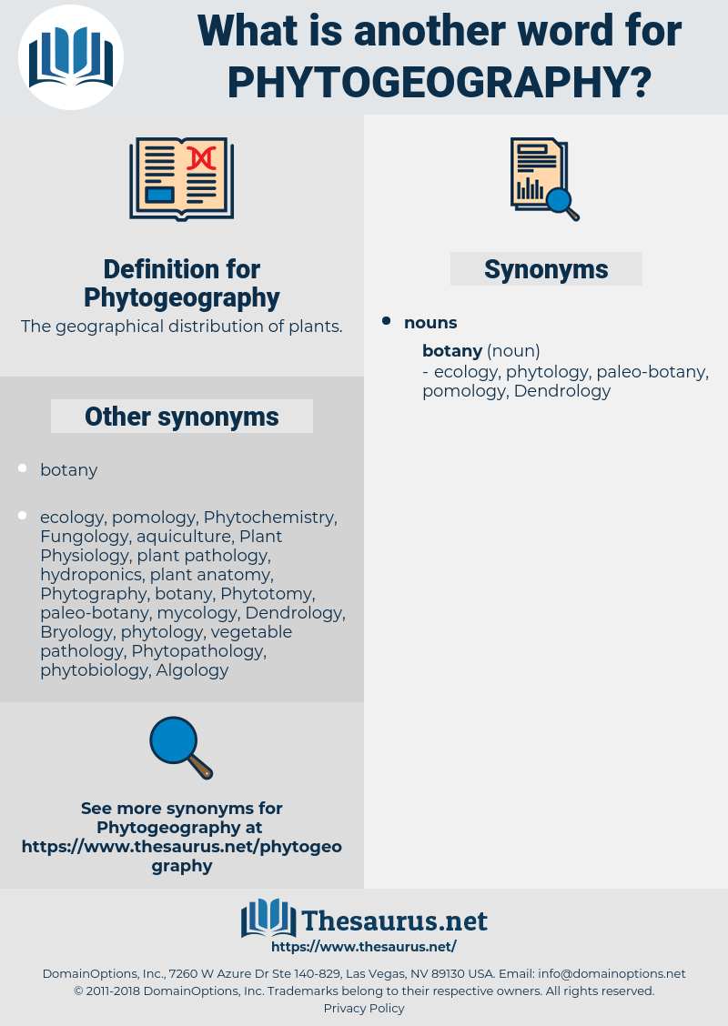 Phytogeography, synonym Phytogeography, another word for Phytogeography, words like Phytogeography, thesaurus Phytogeography