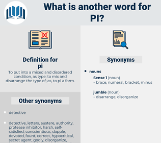 pi, synonym pi, another word for pi, words like pi, thesaurus pi