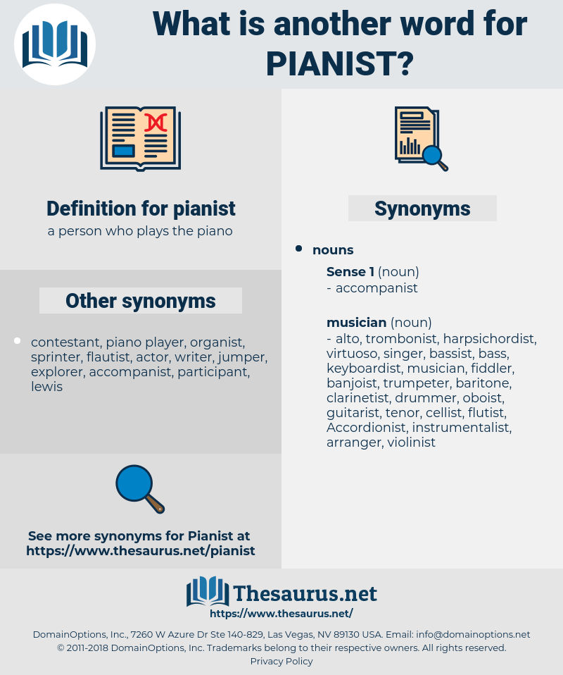 pianist, synonym pianist, another word for pianist, words like pianist, thesaurus pianist