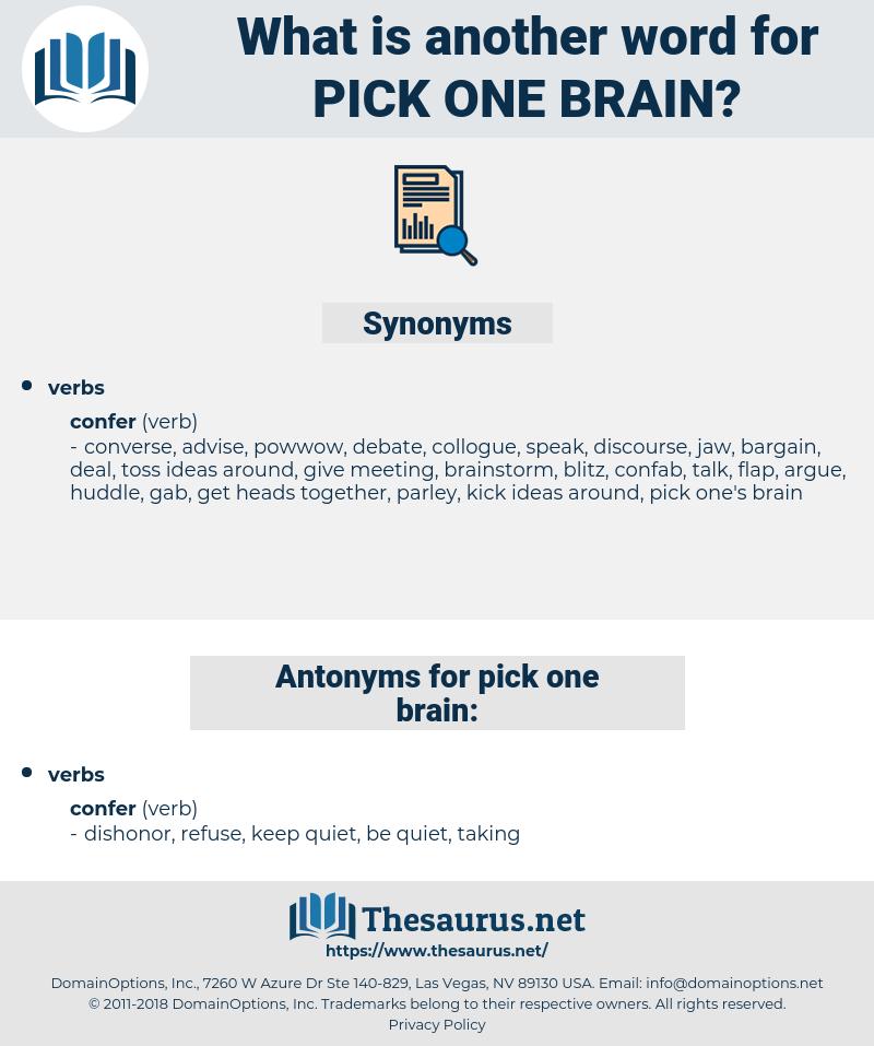 pick one brain, synonym pick one brain, another word for pick one brain, words like pick one brain, thesaurus pick one brain