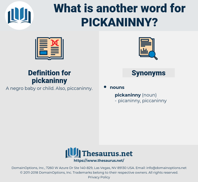 pickaninny, synonym pickaninny, another word for pickaninny, words like pickaninny, thesaurus pickaninny