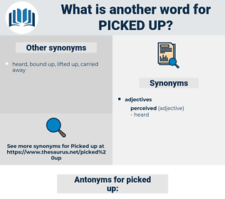 picked up, synonym picked up, another word for picked up, words like picked up, thesaurus picked up