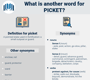 picket, synonym picket, another word for picket, words like picket, thesaurus picket