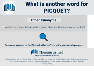 Picquet, synonym Picquet, another word for Picquet, words like Picquet, thesaurus Picquet