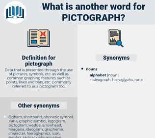 pictograph, synonym pictograph, another word for pictograph, words like pictograph, thesaurus pictograph