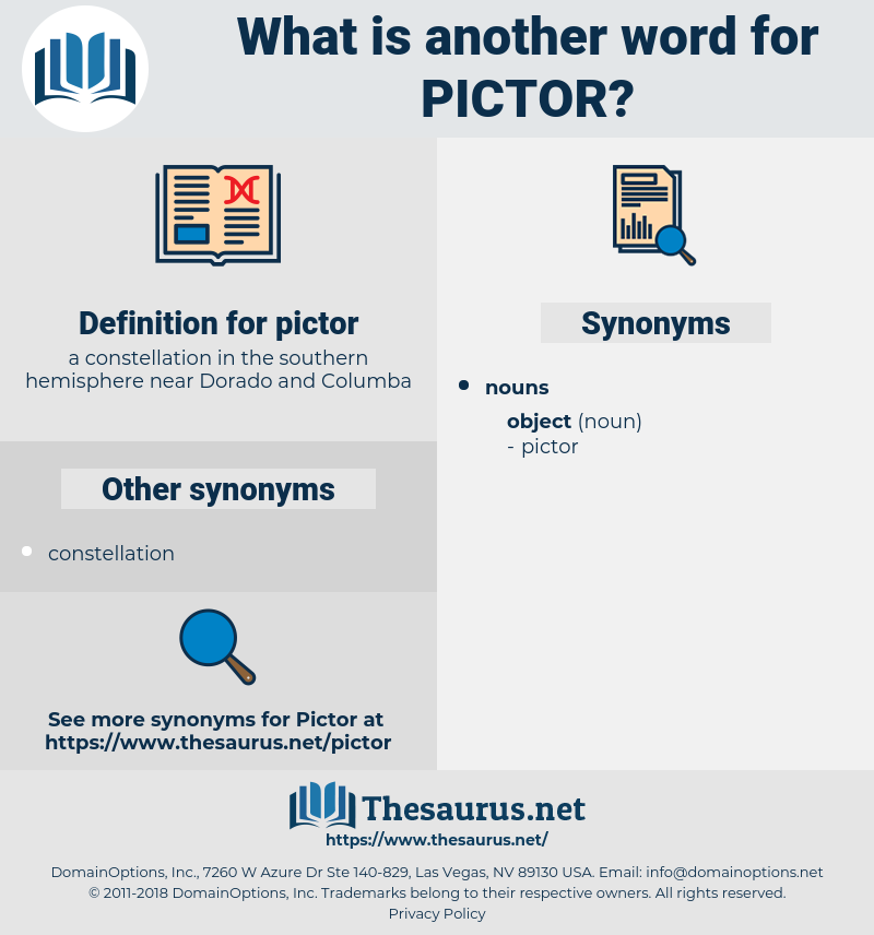 pictor, synonym pictor, another word for pictor, words like pictor, thesaurus pictor