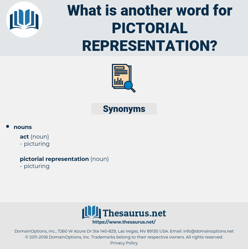 pictorial representation, synonym pictorial representation, another word for pictorial representation, words like pictorial representation, thesaurus pictorial representation