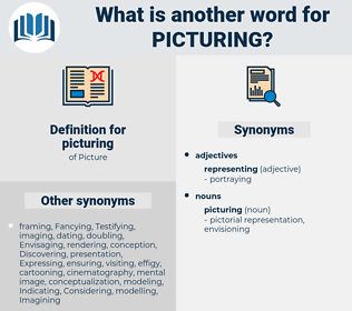 picturing, synonym picturing, another word for picturing, words like picturing, thesaurus picturing