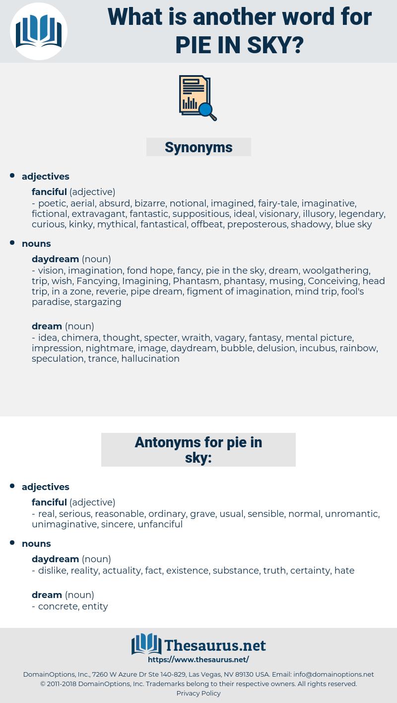 pie in sky, synonym pie in sky, another word for pie in sky, words like pie in sky, thesaurus pie in sky