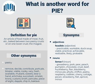 pie, synonym pie, another word for pie, words like pie, thesaurus pie