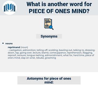 piece of ones mind, synonym piece of ones mind, another word for piece of ones mind, words like piece of ones mind, thesaurus piece of ones mind