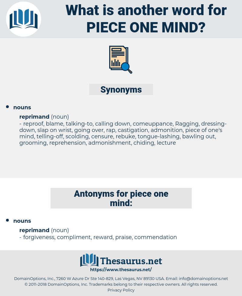 piece one mind, synonym piece one mind, another word for piece one mind, words like piece one mind, thesaurus piece one mind