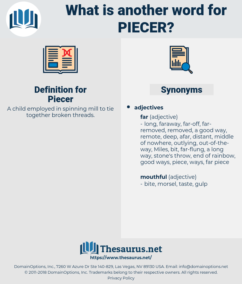 Piecer, synonym Piecer, another word for Piecer, words like Piecer, thesaurus Piecer