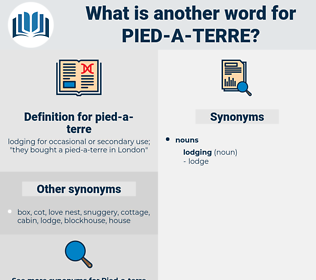 pied-a-terre, synonym pied-a-terre, another word for pied-a-terre, words like pied-a-terre, thesaurus pied-a-terre