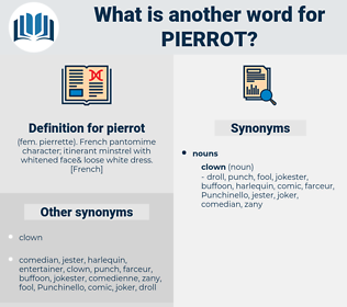 pierrot, synonym pierrot, another word for pierrot, words like pierrot, thesaurus pierrot