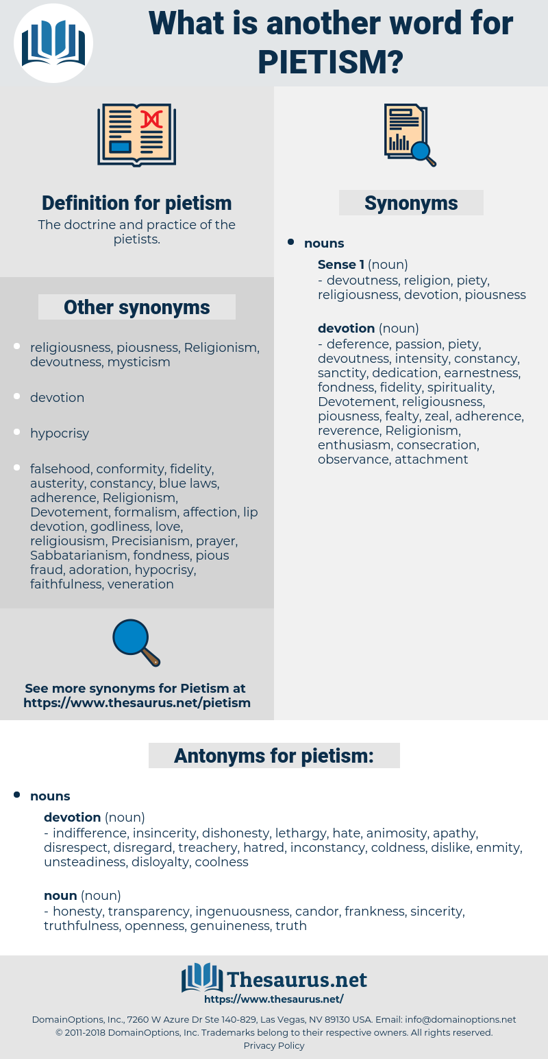 pietism, synonym pietism, another word for pietism, words like pietism, thesaurus pietism