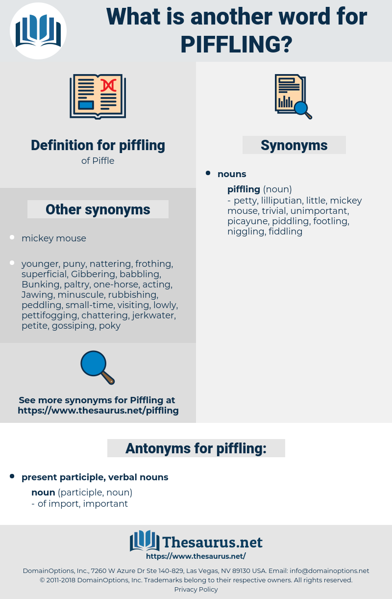 piffling, synonym piffling, another word for piffling, words like piffling, thesaurus piffling