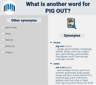 pig out, synonym pig out, another word for pig out, words like pig out, thesaurus pig out