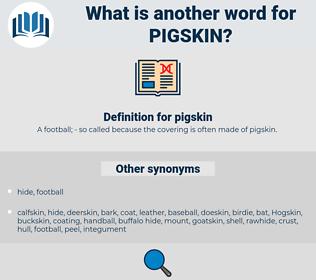 pigskin, synonym pigskin, another word for pigskin, words like pigskin, thesaurus pigskin