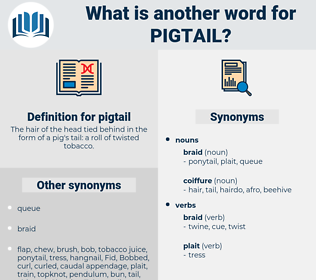 pigtail, synonym pigtail, another word for pigtail, words like pigtail, thesaurus pigtail