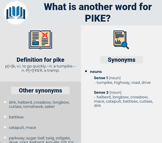 pike, synonym pike, another word for pike, words like pike, thesaurus pike