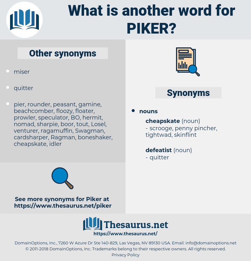 piker, synonym piker, another word for piker, words like piker, thesaurus piker