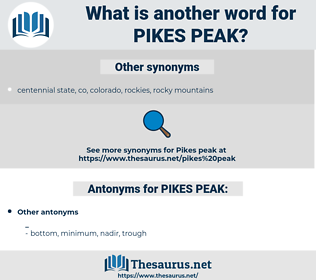 PIKES PEAK, synonym PIKES PEAK, another word for PIKES PEAK, words like PIKES PEAK, thesaurus PIKES PEAK