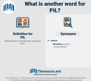 PIL, synonym PIL, another word for PIL, words like PIL, thesaurus PIL