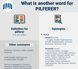 pilferer, synonym pilferer, another word for pilferer, words like pilferer, thesaurus pilferer