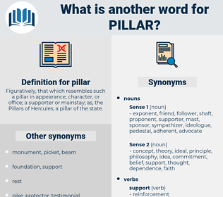 pillar, synonym pillar, another word for pillar, words like pillar, thesaurus pillar