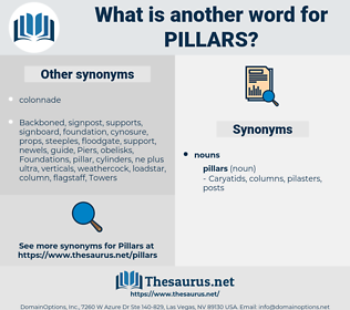 pillars, synonym pillars, another word for pillars, words like pillars, thesaurus pillars