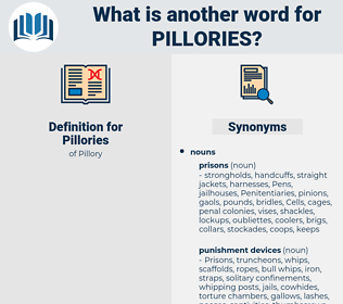 Pillories, synonym Pillories, another word for Pillories, words like Pillories, thesaurus Pillories
