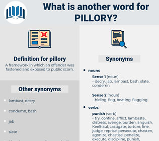 pillory, synonym pillory, another word for pillory, words like pillory, thesaurus pillory