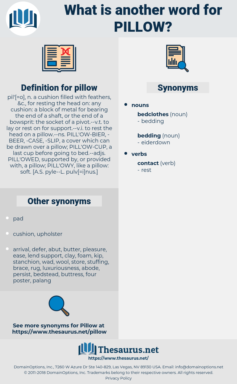 pillow, synonym pillow, another word for pillow, words like pillow, thesaurus pillow