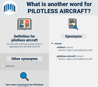 pilotless aircraft, synonym pilotless aircraft, another word for pilotless aircraft, words like pilotless aircraft, thesaurus pilotless aircraft