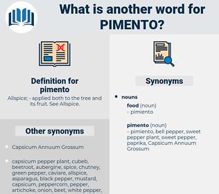 pimento, synonym pimento, another word for pimento, words like pimento, thesaurus pimento