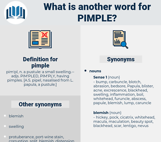 pimple, synonym pimple, another word for pimple, words like pimple, thesaurus pimple