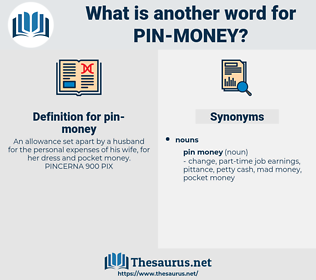 pin money, synonym pin money, another word for pin money, words like pin money, thesaurus pin money