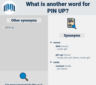 pin up, synonym pin up, another word for pin up, words like pin up, thesaurus pin up