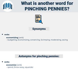 pinching pennies, synonym pinching pennies, another word for pinching pennies, words like pinching pennies, thesaurus pinching pennies