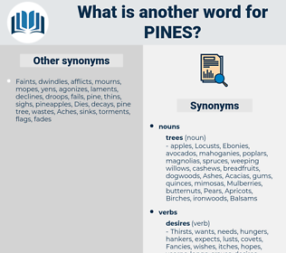 pines, synonym pines, another word for pines, words like pines, thesaurus pines