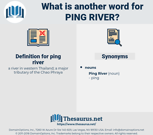 ping river, synonym ping river, another word for ping river, words like ping river, thesaurus ping river