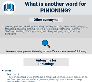 Pinioning, synonym Pinioning, another word for Pinioning, words like Pinioning, thesaurus Pinioning