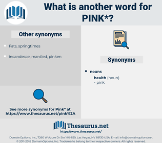 pink, synonym pink, another word for pink, words like pink, thesaurus pink