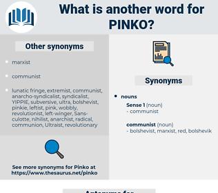 pinko, synonym pinko, another word for pinko, words like pinko, thesaurus pinko