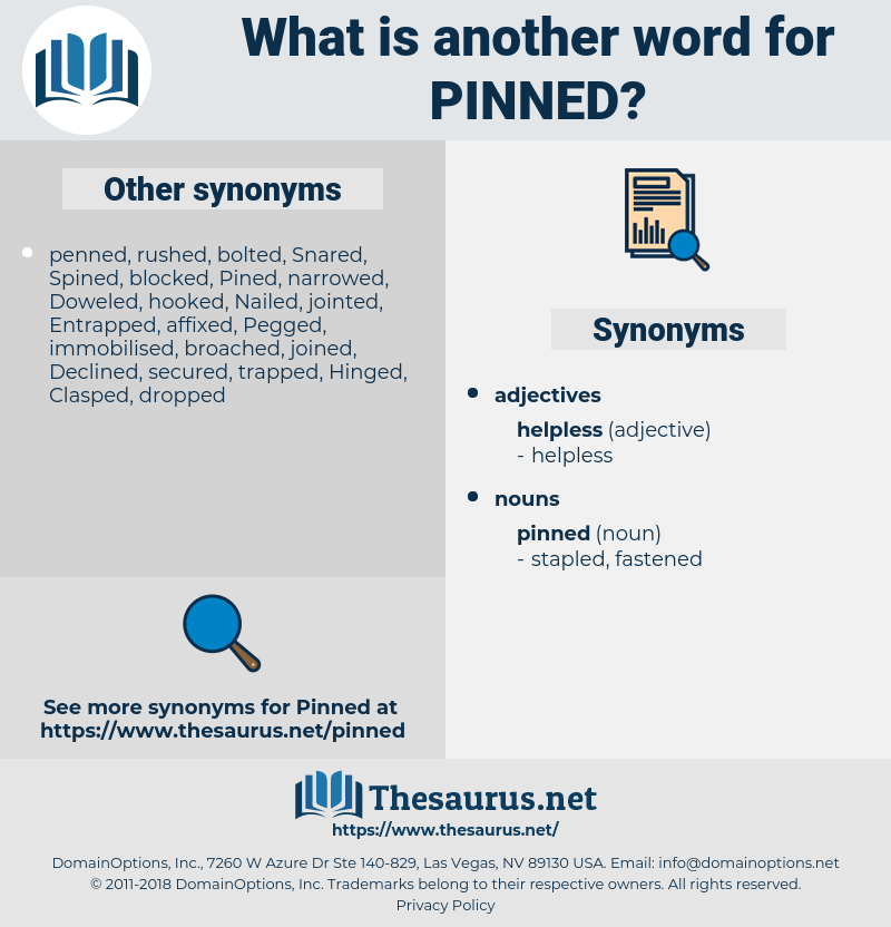 pinned, synonym pinned, another word for pinned, words like pinned, thesaurus pinned