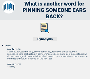pinning someone ears back, synonym pinning someone ears back, another word for pinning someone ears back, words like pinning someone ears back, thesaurus pinning someone ears back