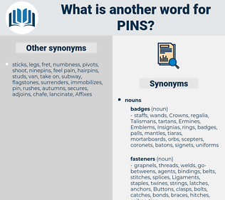 pins, synonym pins, another word for pins, words like pins, thesaurus pins