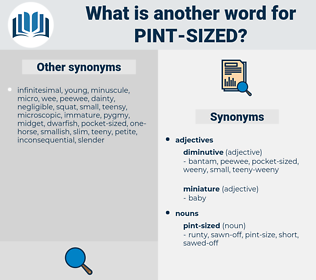 pint sized, synonym pint sized, another word for pint sized, words like pint sized, thesaurus pint sized