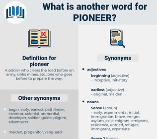 pioneer, synonym pioneer, another word for pioneer, words like pioneer, thesaurus pioneer